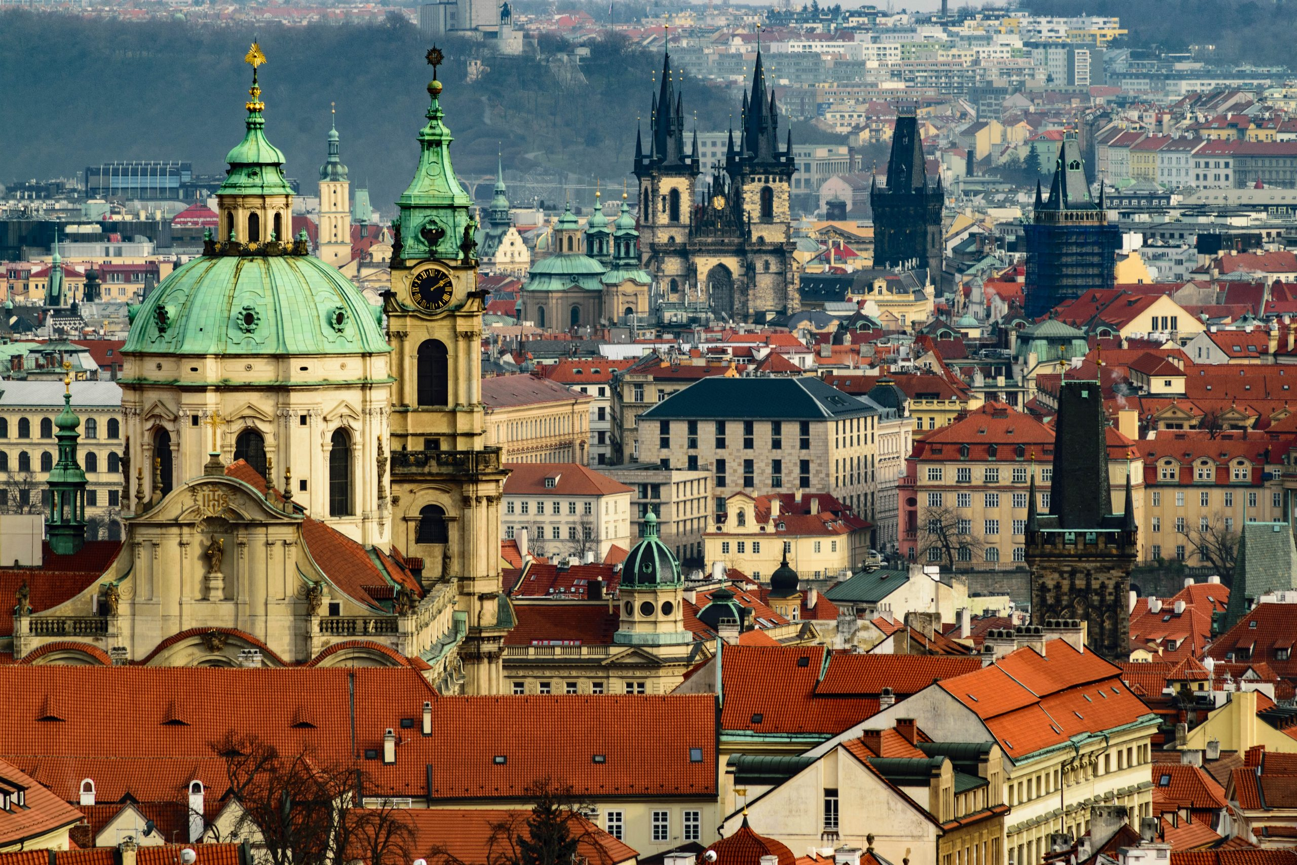 Prague City Centre 100 towers